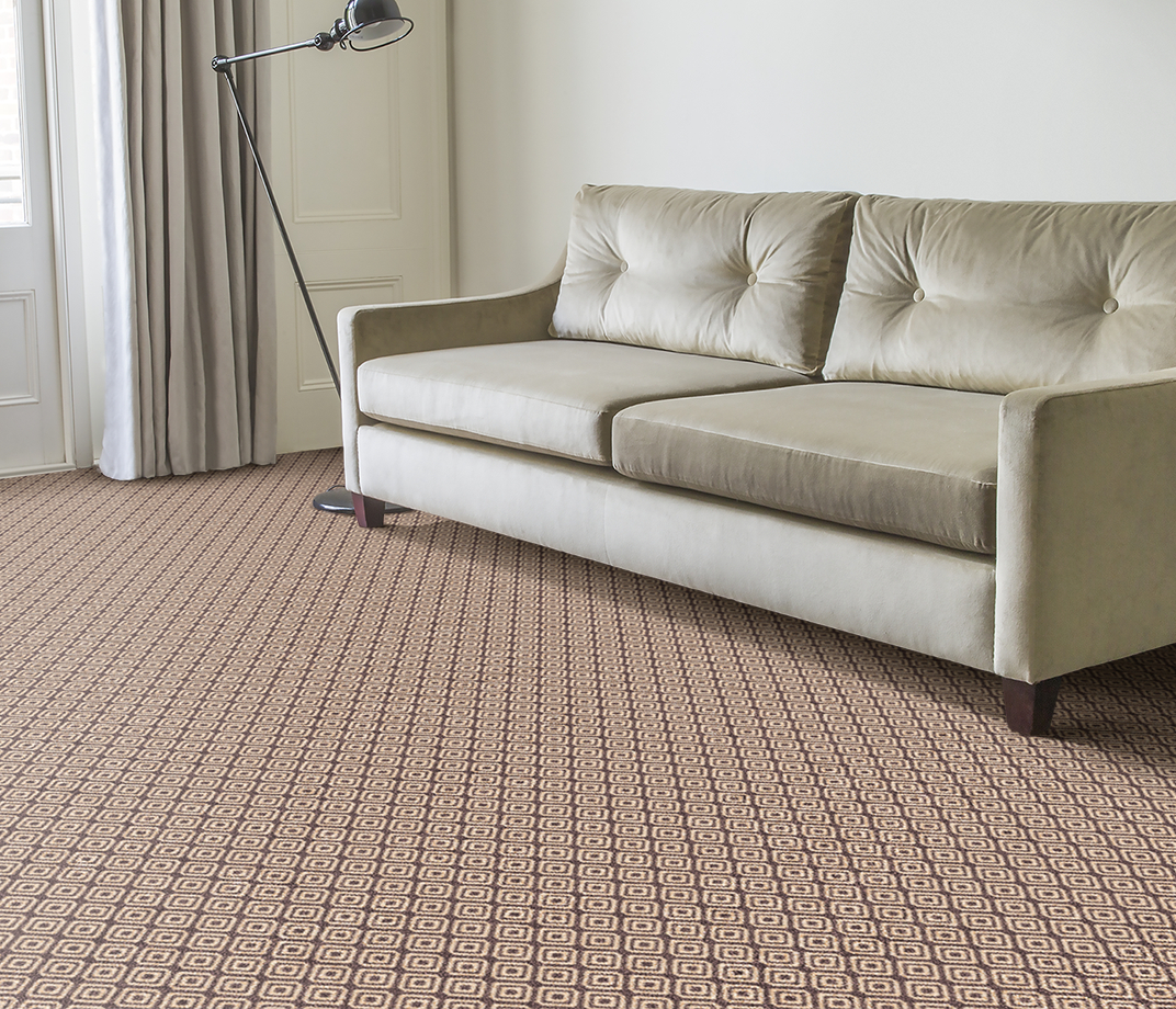 Quirky B Geo Grey Carpet 7133 in Living Room thumb