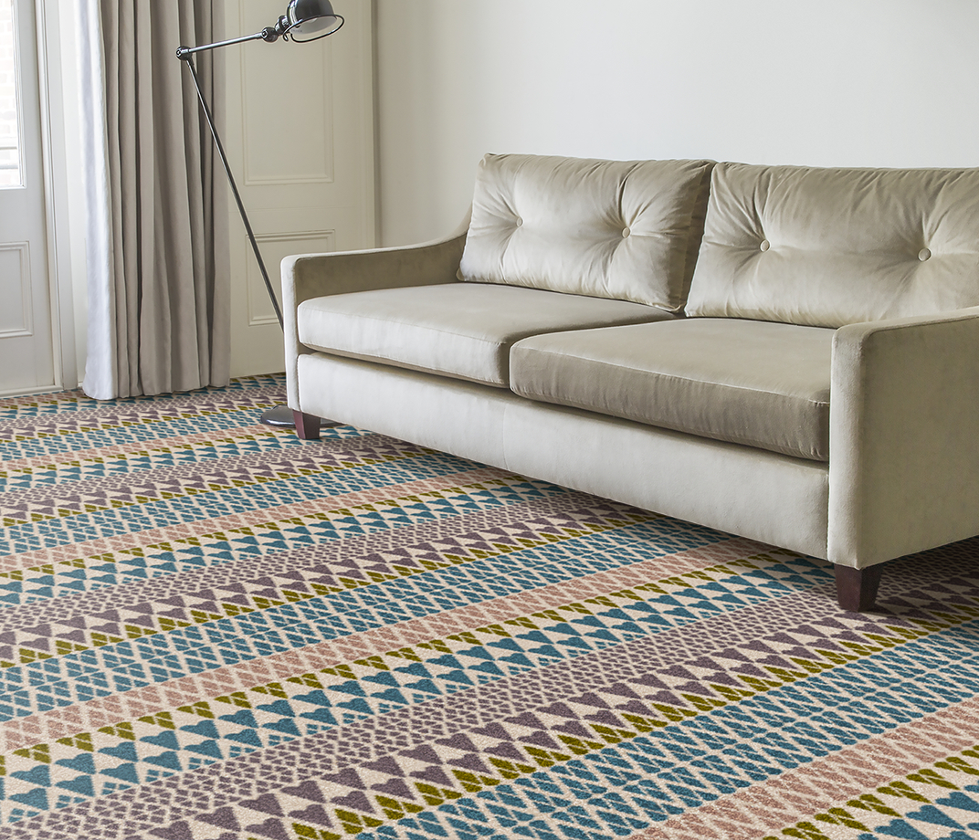 Quirky B Margo Selby Fair Isle Annie Carpet 7210 in Living Room thumb