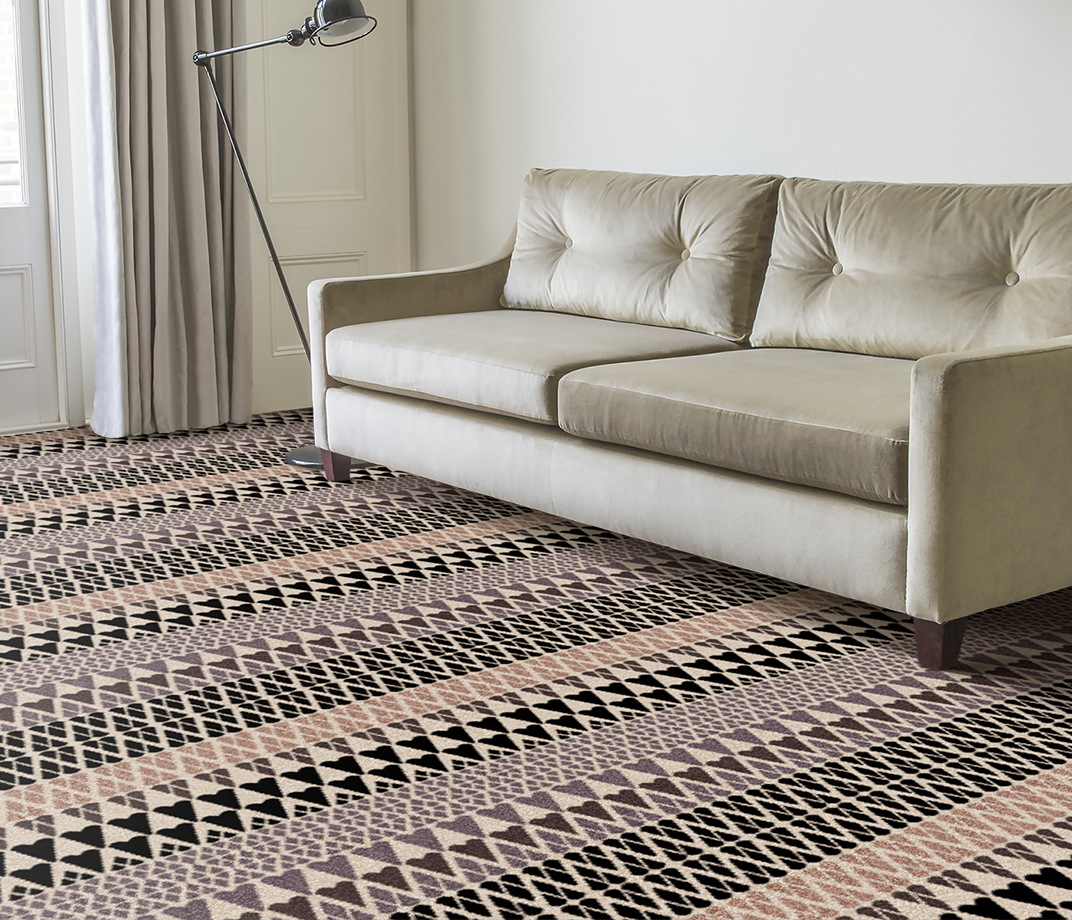 Quirky B Margo Selby Fair Isle Sutton Carpet 7211 in Living Room thumb