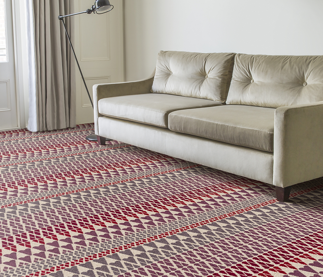 Quirky B Margo Selby Fair Isle Reiko Carpet 7212 in Living Room thumb