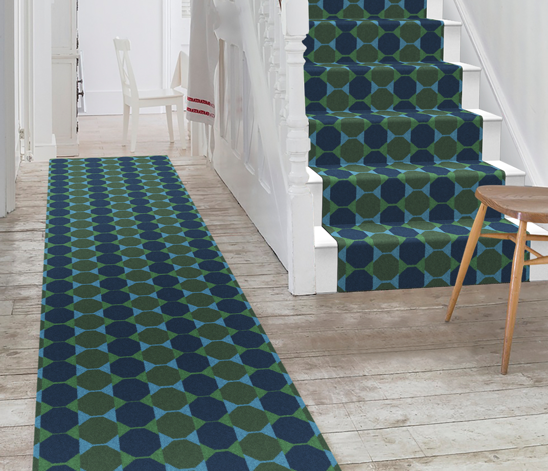 Lucienne Day Authentic Octagon Runner 7085 Stair Runner thumb
