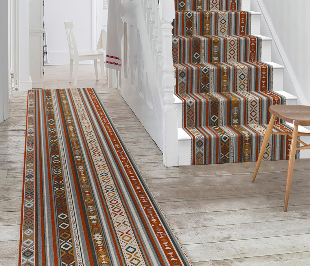 Quirky Tribe Passion Runner 7096 Stair Runner thumb