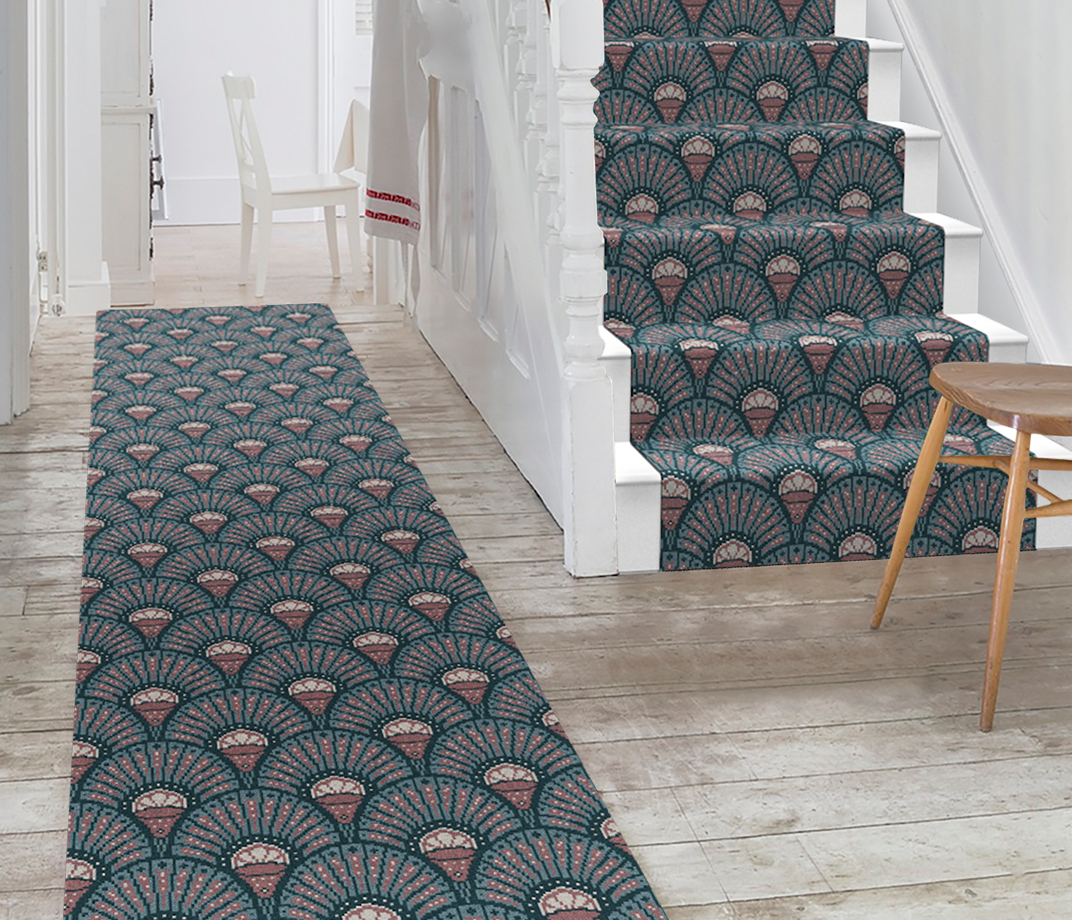 Quirky Deco Blush Runner by Divine Savages 7098 Stair Runner thumb
