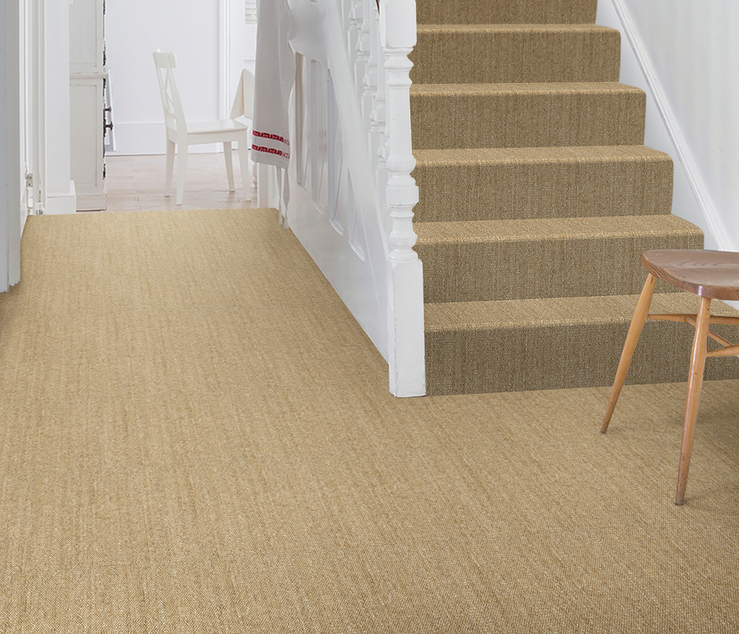 No Bother Sisal Bouclé Neatham Carpet 1400 on Stairs thumb