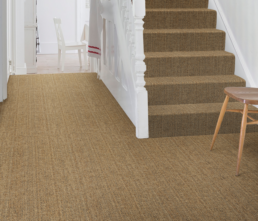 No Bother Sisal Bouclé Netley Carpet 1401 on Stairs thumb