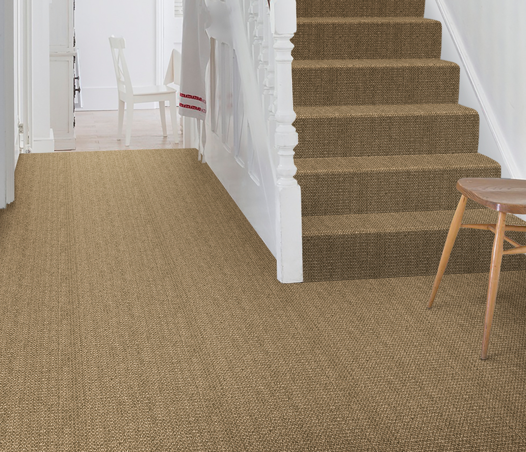 No Bother Sisal Bouclé Norleywood Carpet 1403 on Stairs thumb