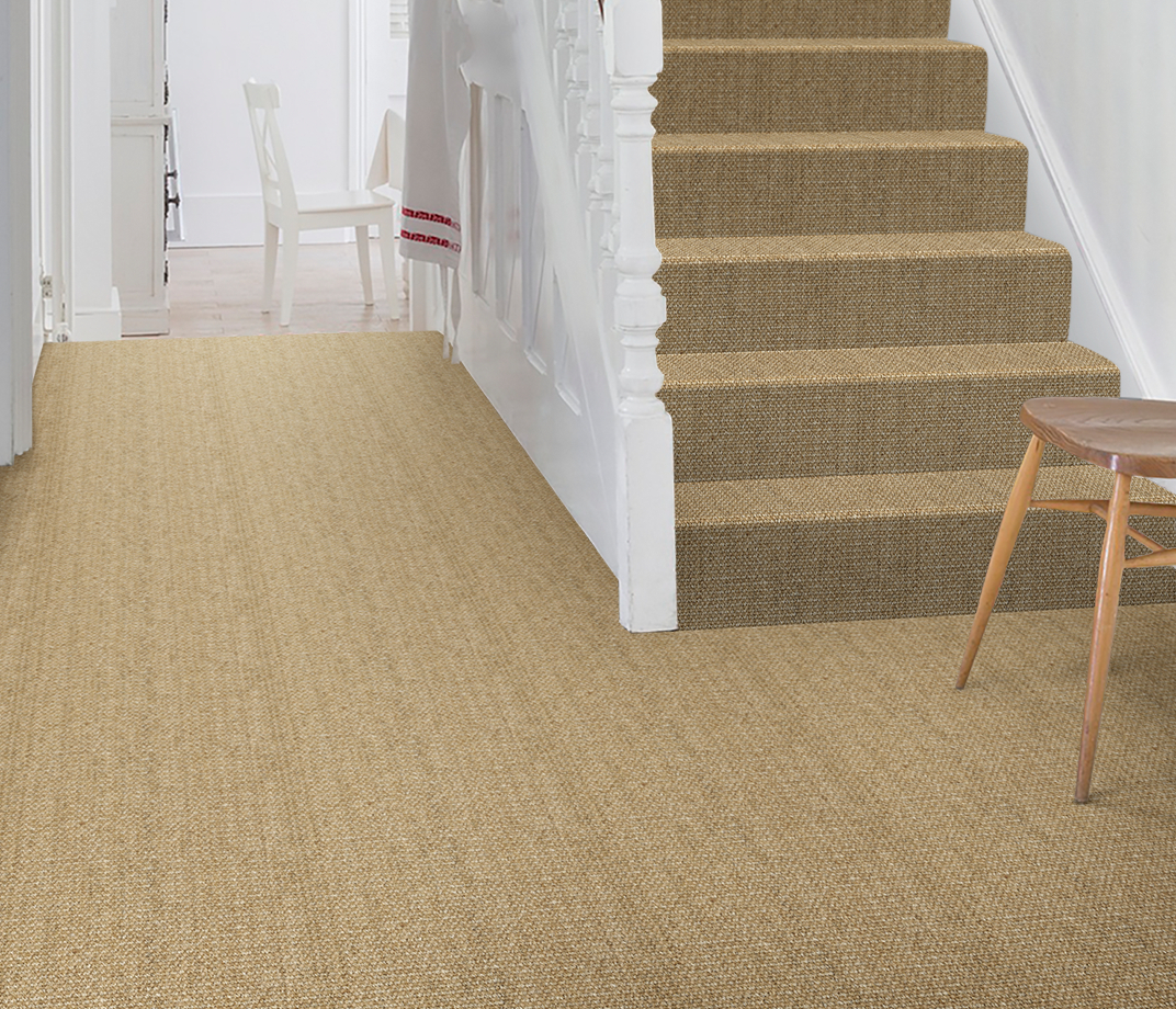 No Bother Sisal Super Bouclé Netherton Carpet 1450 on Stairs thumb