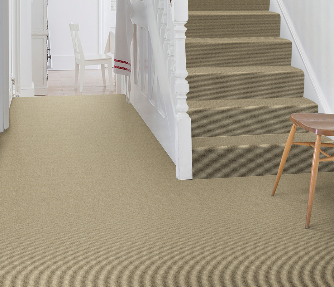 Wool Iconic Bouclé Garbo Carpet 1513 on Stairs thumb
