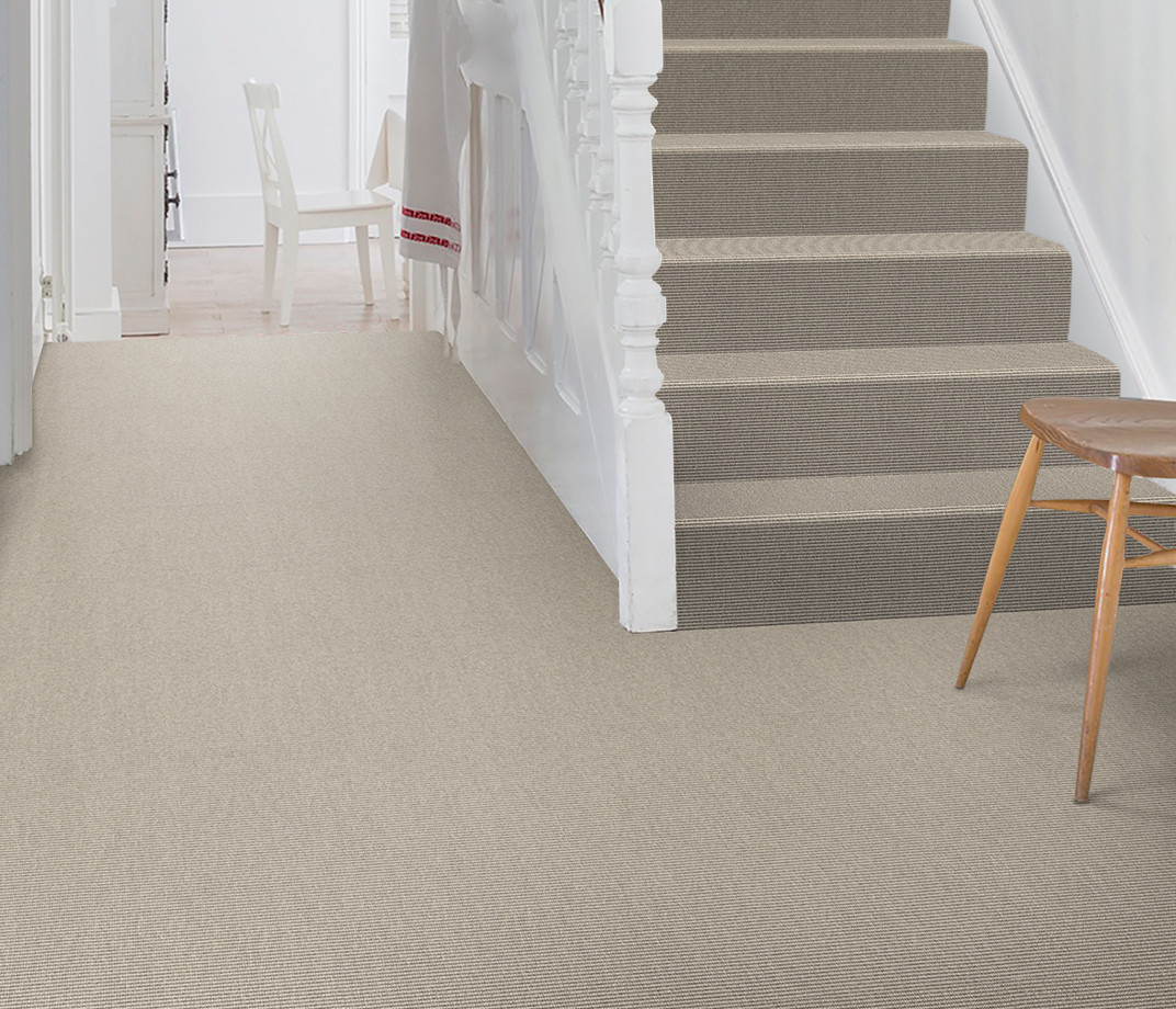 Wool Iconic Bouclé Monroe Carpet 1516 on Stairs thumb