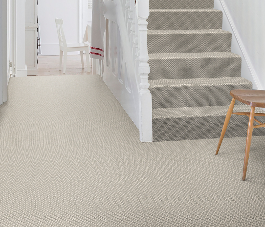 Wool Iconic Chevron Forth Carpet 1536 on Stairs thumb
