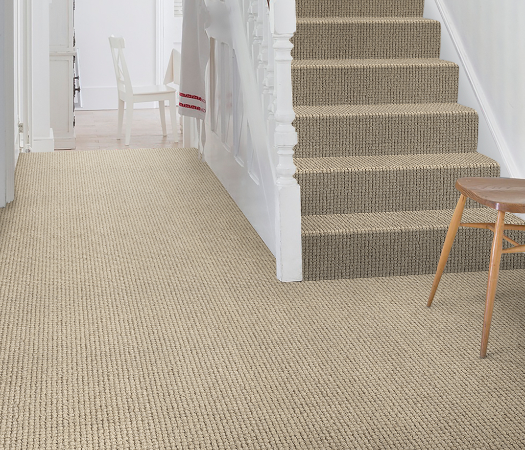 Wool Pebble Alby Carpet 1802 on Stairs thumb
