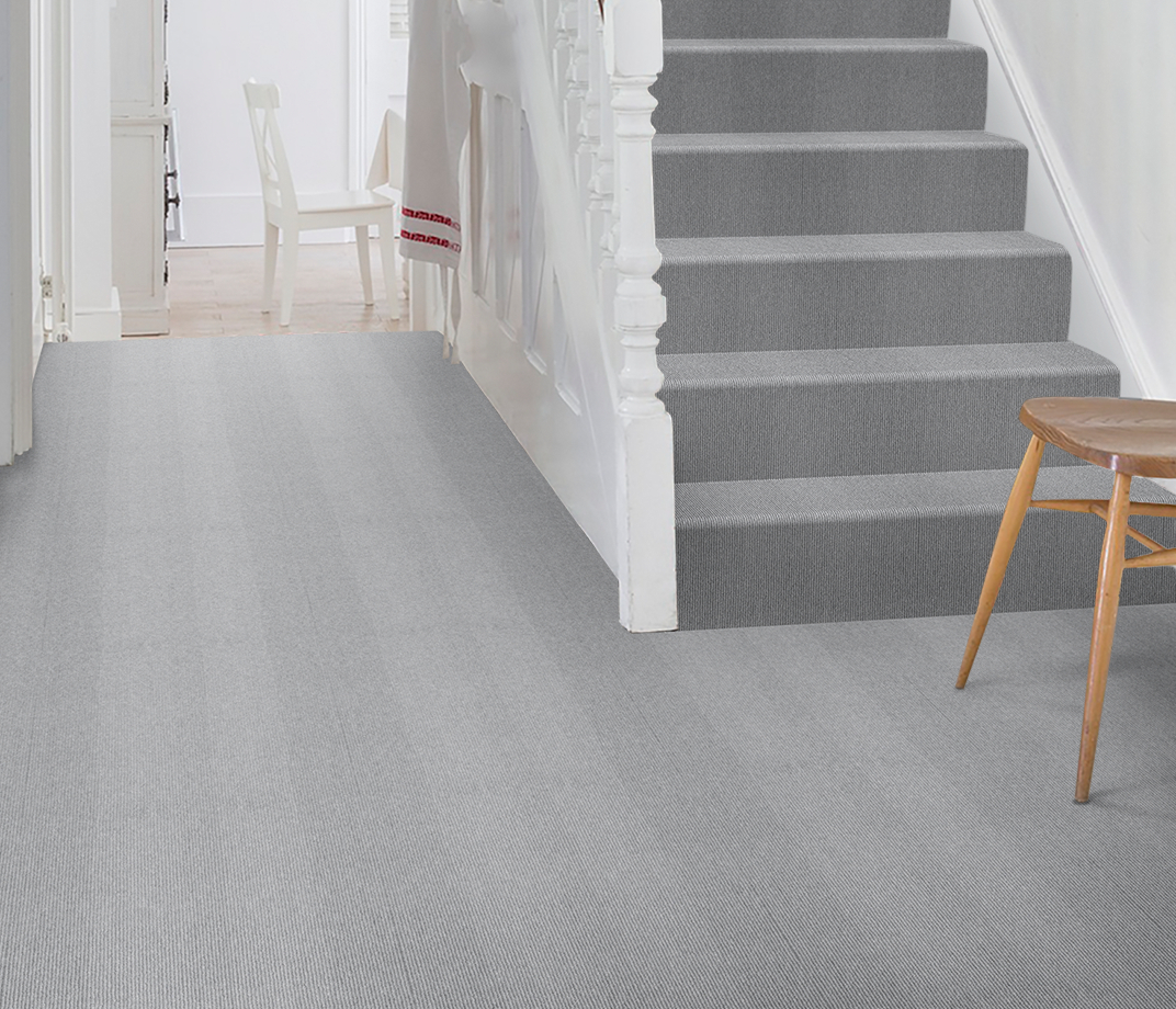 Wool Cord Cloud Carpet 5784 on Stairs thumb