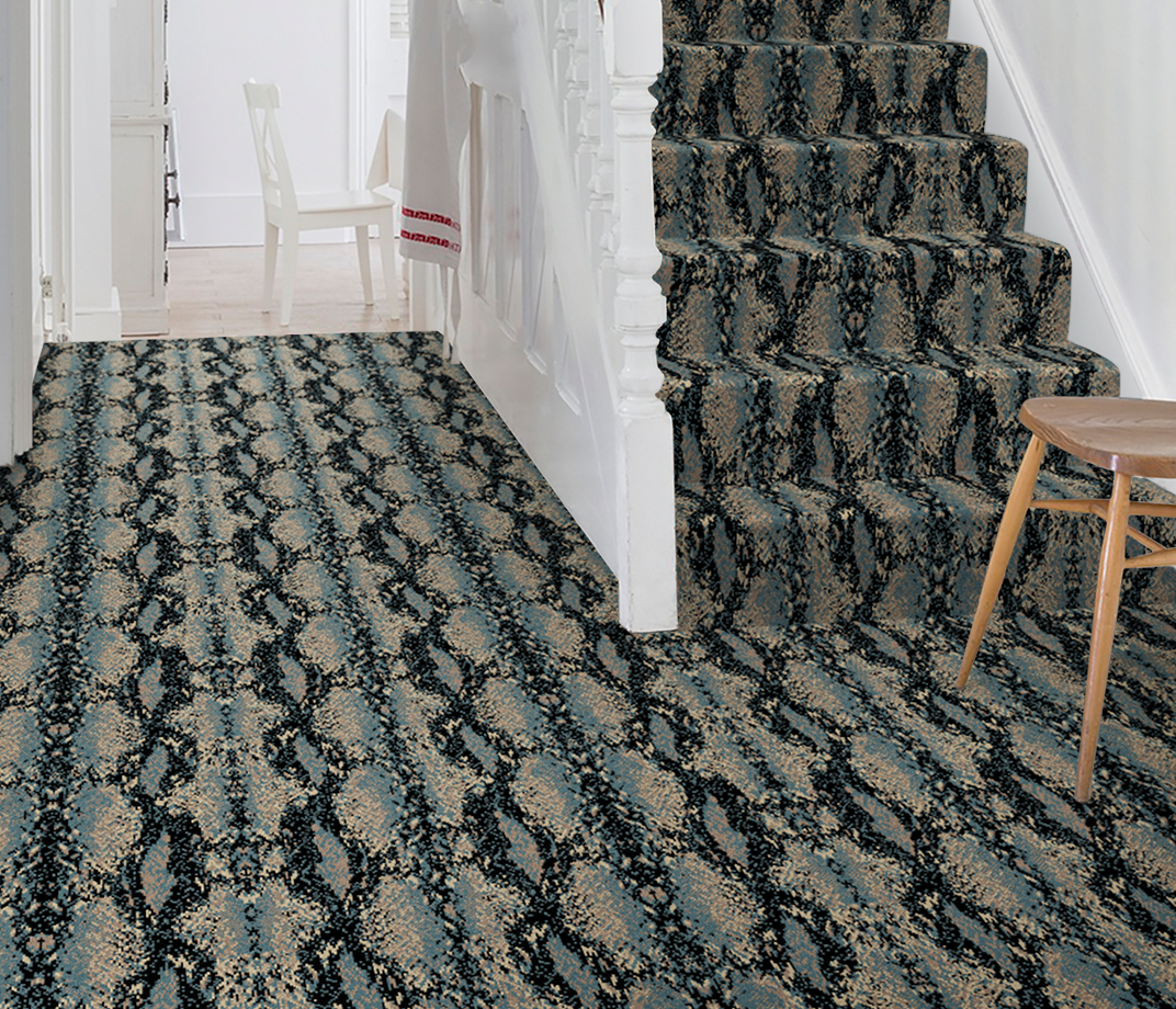 Quirky B Snake Mamba Carpet 7127 on Stairs thumb