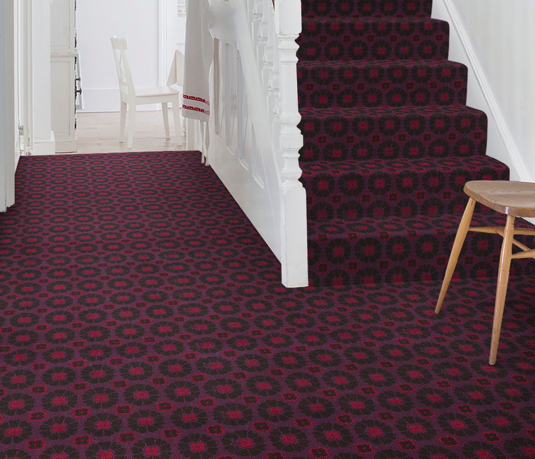 Quirky B Ashley Hicks Daisy Cosmos Carpet 7262 on Stairs thumb
