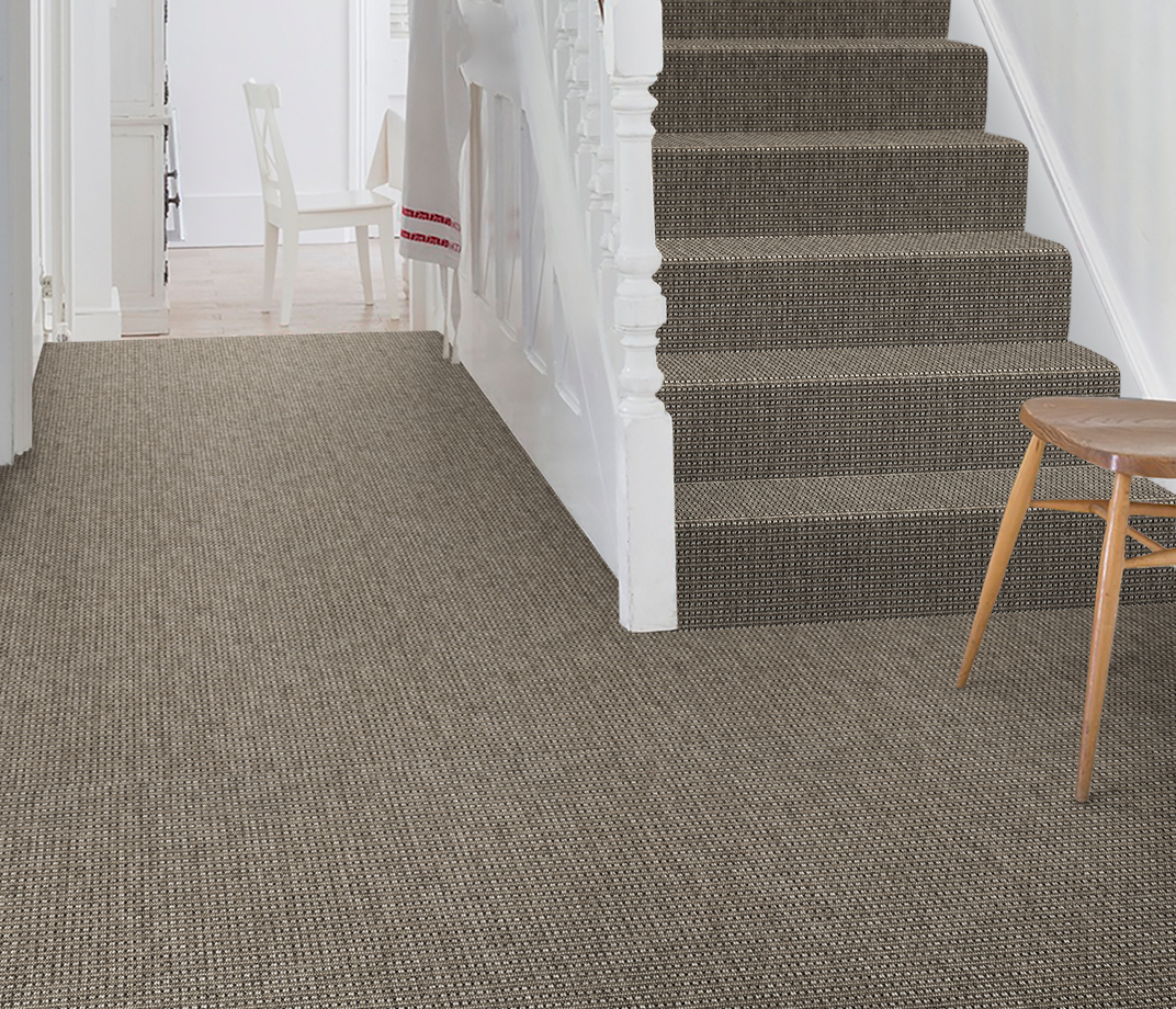 Anywhere Rope Grey Carpet 8061 on Stairs thumb