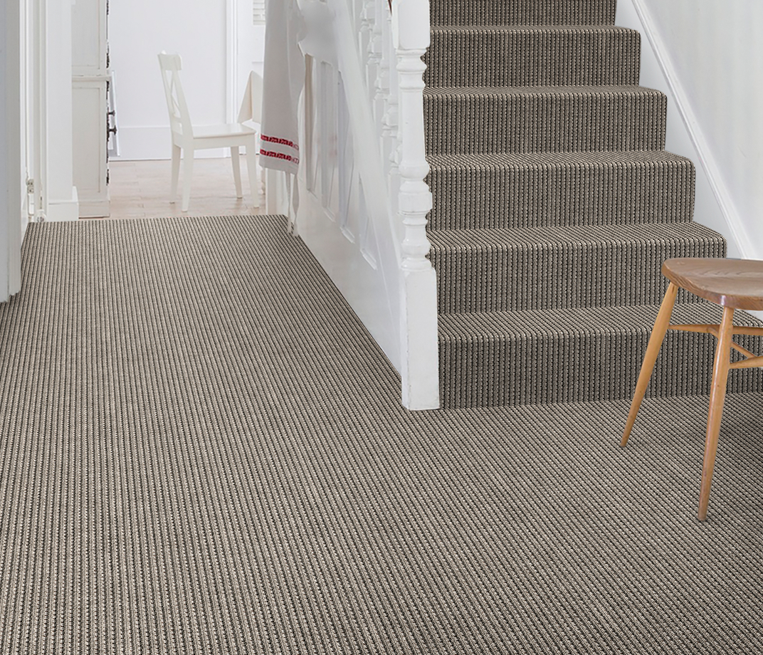 Anywhere Rope Steel Carpet 8063 on Stairs thumb