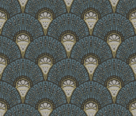 Quirky Deco Teal Runner by Divine Savages 7097 Swatch thumb