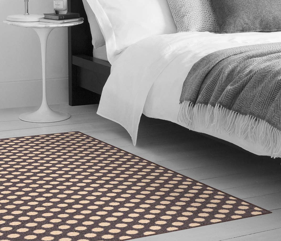 Quirky B Spotty Grey Patterned Carpet 7143 Make Me A Rug