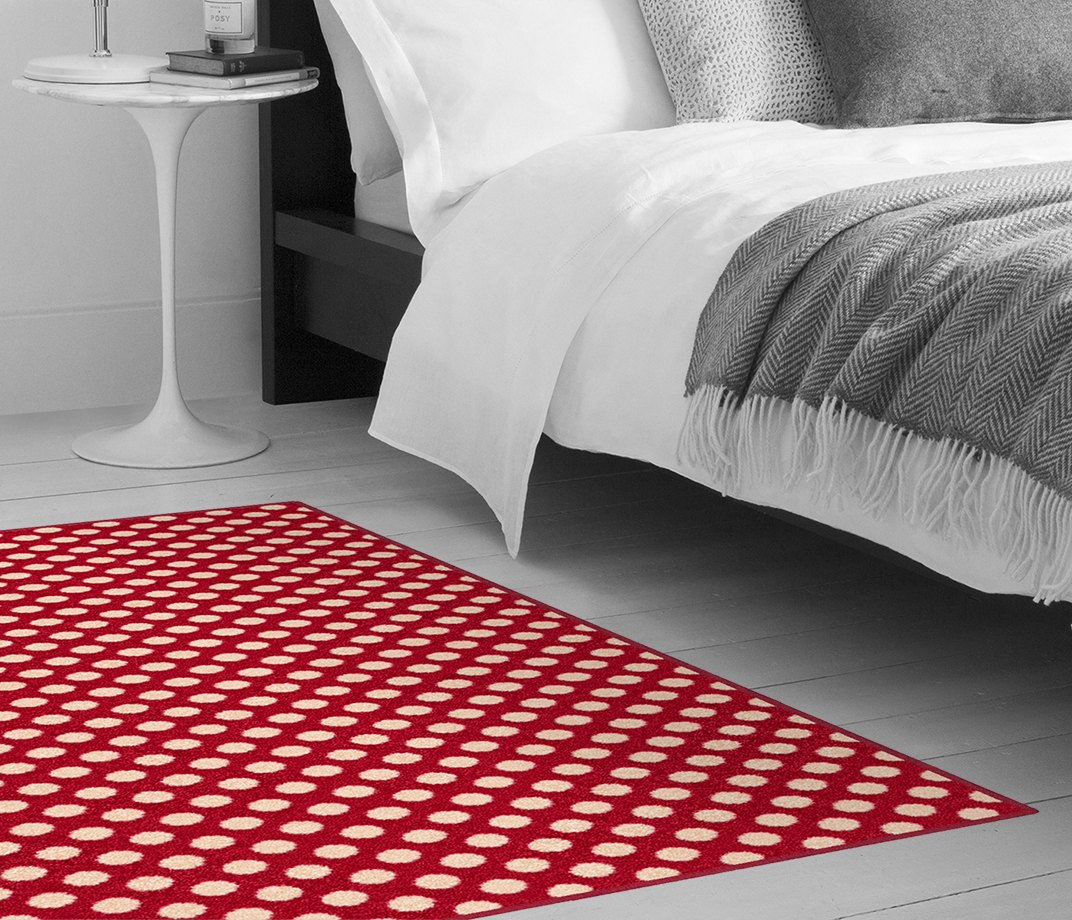 Quirky B Spotty Red Carpet 7144 Make Me A Rug