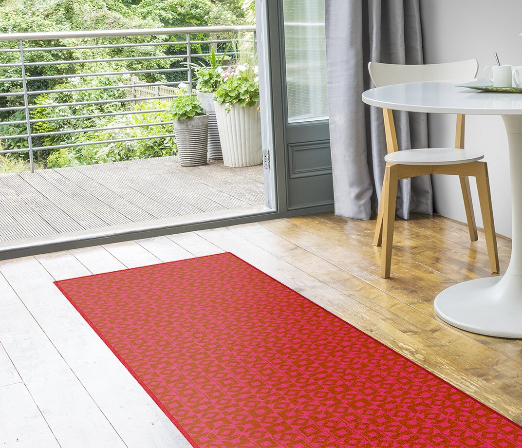 Lucienne Day Authentic Squares and Diamonds Runner 7086 Runner