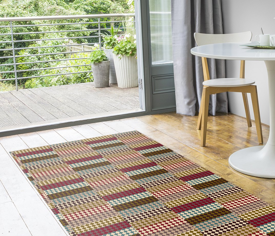 Quirky Patch Strip Red Runner by Margo Selby 7091 Runner