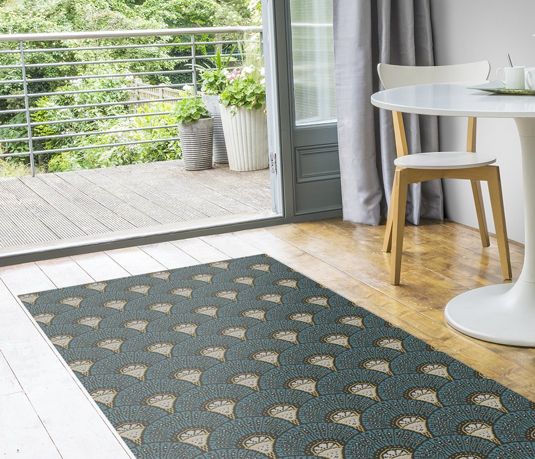 Quirky Deco Teal Runner by Divine Savages 7097 Runner