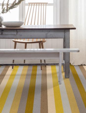 Floor Gazing Dining Room - Margo Selby Stripe Sun Whitstable broad striped carpet