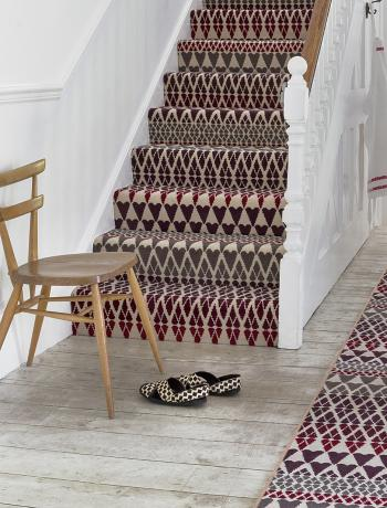 Floor Gazing Runners - Quirky B Fair Isle Reiko by Margo Selby patterned stair runner