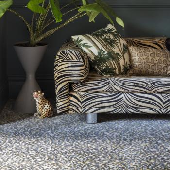 Floor Gazing Lounge - Quirky B Leopard Snow animal patterned carpet