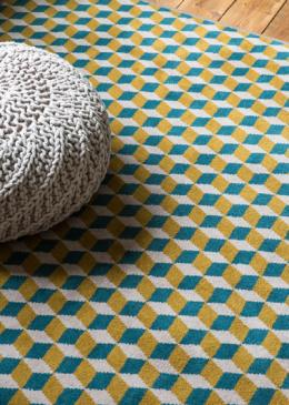 Lucy Gough Make Me A Rug: Quirky B Ben Pentreath Designs Quirky B Cube Soane (7244) with whipped edge lifestyle shot 4