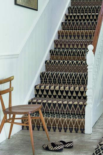 Floor Gazing Hallway - Quirky B Fair Isle Sutton by Margo Selby patterned stair carpet