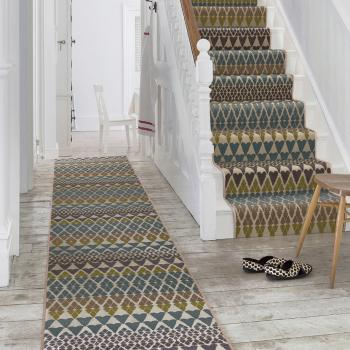 Floor Gazing Hallway - Quirky B Fair Isle Annie by Margo Selby patterned axminster runner