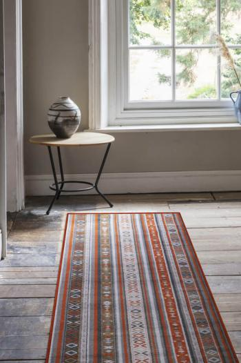 Floor Gazing Hallway - Quirky Tribe Passion patterned carpet runner