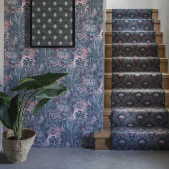 Floor Gazing Runners - Quirky Deco Blush patterned stair runner by Divine Savages