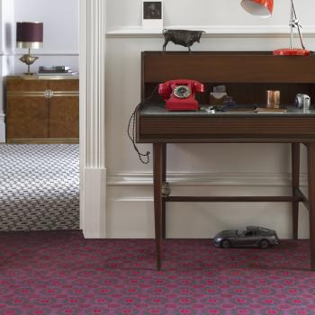 Floor Gazing Home Office - Quirky B Daisy Cosmos by Ashley Hicks floral patterned carpet