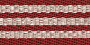 Stripes Thick Red Border 6204