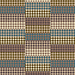 Quirky Patch Strip Blue Runner by Margo Selby 7092