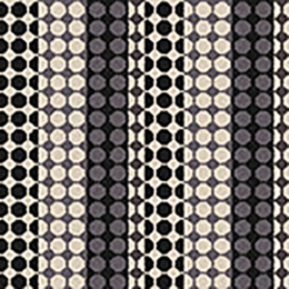 Quirky B Margo Selby Button Black Carpet 7215