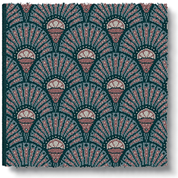 Quirky Deco Blush Runner by Divine Savages 7098