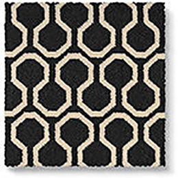 Quirky B Honeycomb Black Carpet 7111