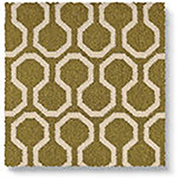 Quirky B Honeycomb Moss Carpet 7112