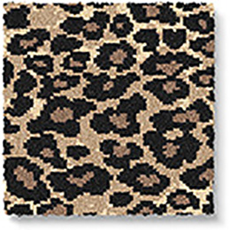 Quirky B Leopard Java Carpet 7125