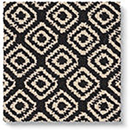 Quirky B Geo Black Carpet 7131