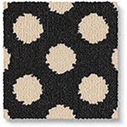 Quirky B Spotty Black Carpet 7140