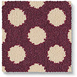 Quirky B Spotty Damson Carpet 7141