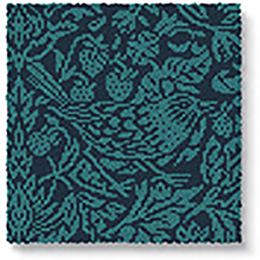 Quirky B Liberty Fabrics Strawberry Meadow Peacock Carpet 7512