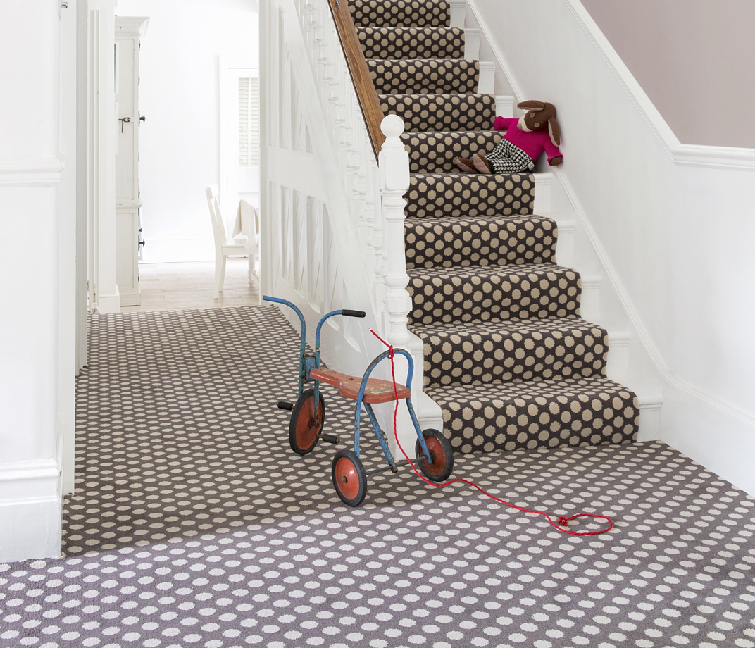 Quirky B Spotty Grey Patterned Carpet 7143 lifestyle