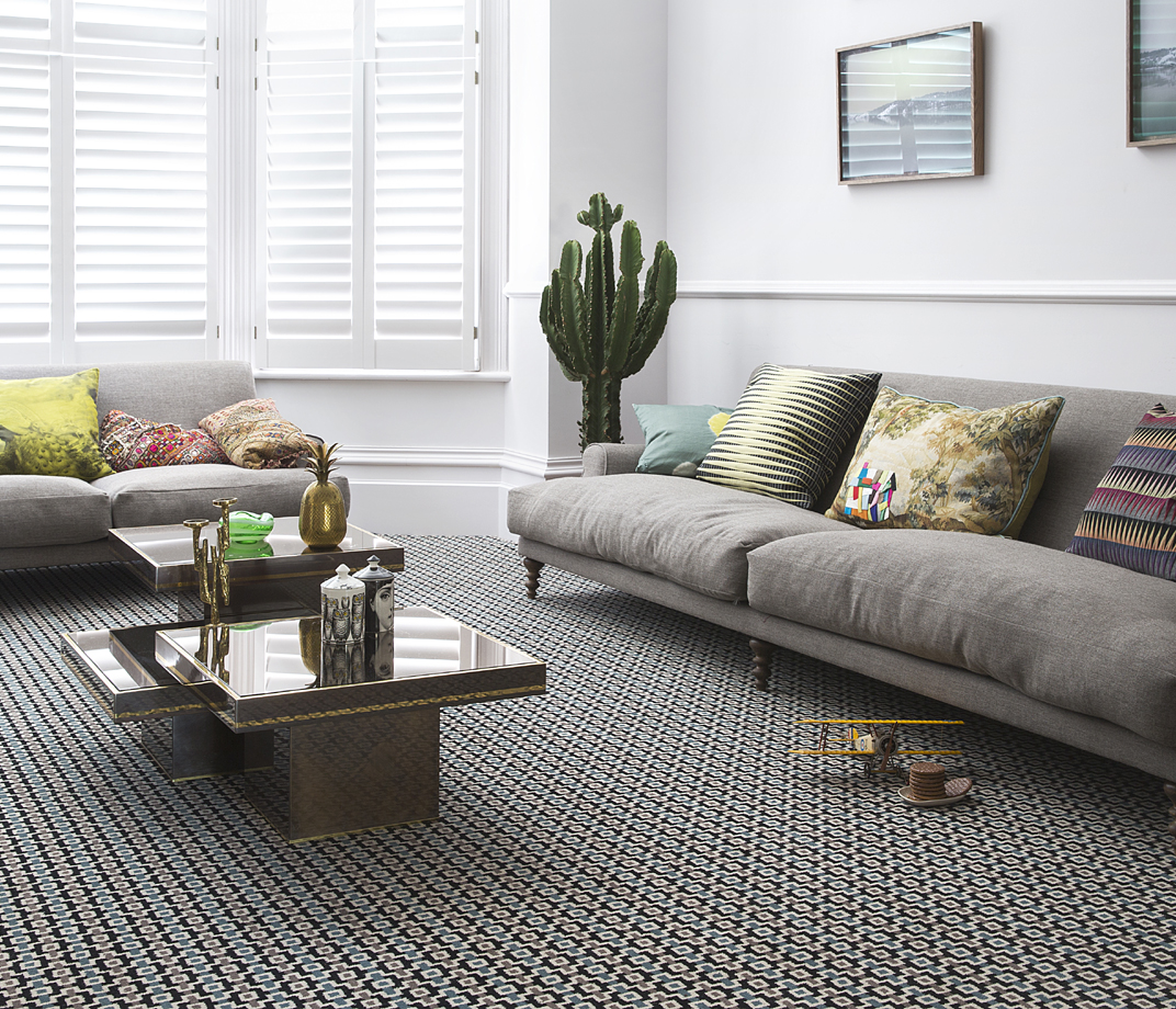 Quirky B Margo Selby Shuttle Silas Carpet 7201 lifestyle